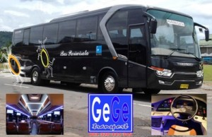 Legacy Sky Bus Pariwisata Yogyakarta jet bus evobus airport surabaya bali denpasar terbaru 2012 terbaik gege transport jogja wisata interior