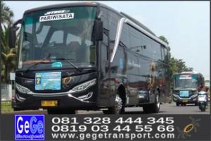 Bus pariwisata yogya gege transwisata nyaman terbaru terbaik terbesar indonesia jogja solo semarang surabaya