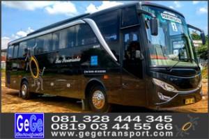 Bus wisata yogya gege transport 2017 terbaik terbaru solo semarang surabaya harga sewa murah
