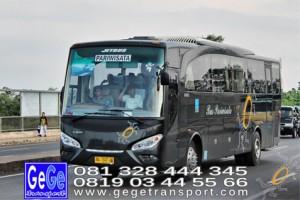 Gege transport setra jetbus2 hd bus hitam terbaru 2016 2017 terbaik sewa jakarta bandung bali lombok surabaya malang semarang pantai pandawa nyaman city tour jetbus