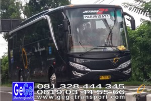 Gege transportasi yogyakarta setra jetbus 2 hd bus hitam terbaru 2016 2017 terbaik sewa jakarta bandung bali lombok surabaya malang lawangsewu pantai pandawa nyaman city tour jetbus