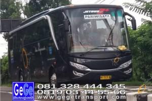 Gege transportasi yogyakarta setra jetbus 2 hd bus hitam terbaru 2016 2017 terbaik sewa jakarta bandung bali lombok surabaya malang pantai pandawa nyaman city tour jetbus