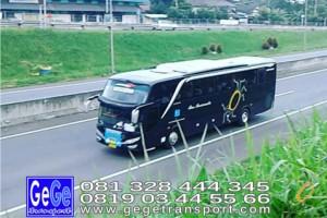 Gege transportasi yogyakarta setra jetbus 2 hdd bus hitam terbaru 2016 2017 terbaik dijual jakarta bandung bali lombok