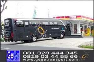 gege transport bus pariwisata terbaru harga sewa kontak 081328444345 081903445566