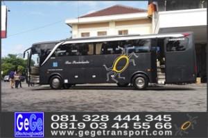 harga sewa bus pariwisata murah nyaman gege transport yogya 2017