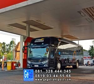 Bus pariwisata yogya gege transport jb3 armada gg nyaman 2018 sewa murah city tour paket wisata terbaik 2019