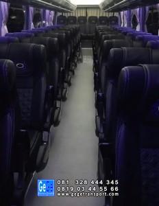 interior Bus pariwisata gege transport jb3 armada terbaru 2018 sewa murah city tour paket wisata terbaik 2019